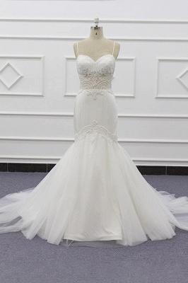 Chicloth Chic Spaghetti Strap Beading Mermaid Wedding Dress_1
