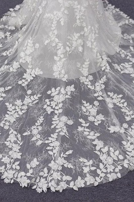 Chicloth Best Spaghetti Strap Appliques Mermaid Wedding Dress_10