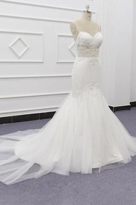 Chicloth Chic Spaghetti Strap Beading Mermaid Wedding Dress_4