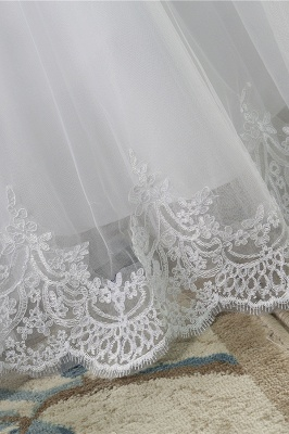 Chicloth Latest Lace-up Tulle Appliques A-line Wedding Dress_7