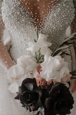Chicloth Precious Long Sleeve Beading Sheath Wedding Dress_4