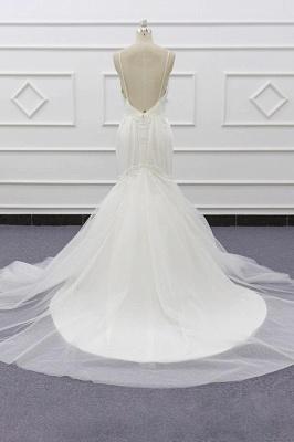 Chicloth Chic Spaghetti Strap Beading Mermaid Wedding Dress_3