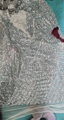 Mermaid Sweetheart Strapless Sequins Long Prom Dresses with Sleeves_3
