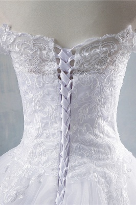 Chicloth Elegant Appliques Lace Tulle A-line Wedding Dress_6