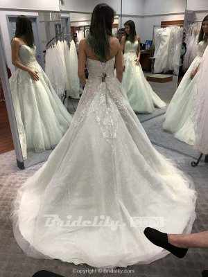 Chicloth Precious Shinny Beaded Strapless Ball Gown Wedding Dress_2