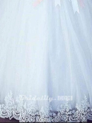 Chicloth Amazing Off-the- Shoulder Lace Ball Gown Tulle Wedding Dresses_3