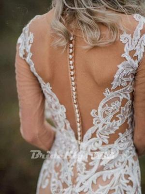 Chicloth Amazing Long Sleeves Boho Lace Appliques Wedding Dress_7