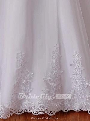 Chicloth Affordable V-Neck Short Sleeves Lace Mermaid Wedding Dresses_6