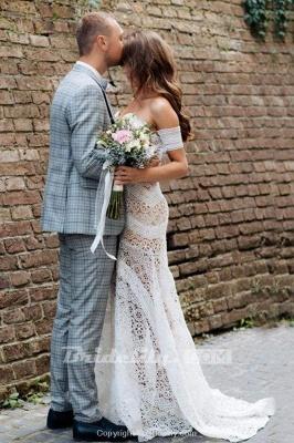 Chicloth Amazing Sweetheart Neck Lace Beach Boho Wedding Dress_3