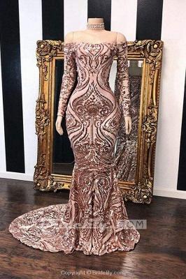 Chicloth Fabulous Long Sleeve Sequins Mermaid Prom Dresses_2
