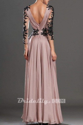 Chicloth V-Neck Long Sleeve Lace Prom Dress\/Evening Dress_2