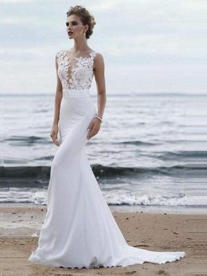 Chicloth Elegant Appliques Lace Mermaid Wedding Dresses_1