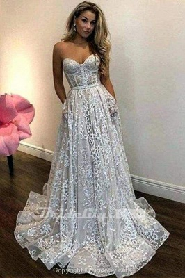 Chicloth Vintage Ivory Sweetheart Beautiful Cheap Lace Wedding Dress_2