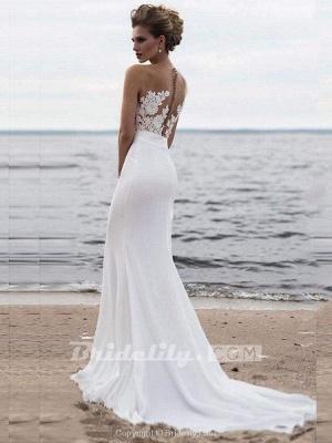 Chicloth Elegant Appliques Lace Mermaid Wedding Dresses_2
