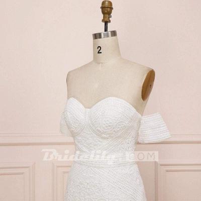 Chicloth Amazing Sweetheart Neck Lace Beach Boho Wedding Dress_7