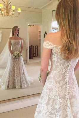 Chicloth Graceful Boho Chic Lace Mermaid Wedding Dress_1
