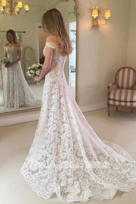 Chicloth Graceful Boho Chic Lace Mermaid Wedding Dress_2