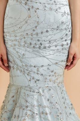 Mermaid Halter V-neck Sleeveless Backless Floor-Length Prom Dress_8