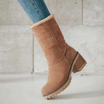 FFT480 Women Winter Fur Warm Snow Boots_13