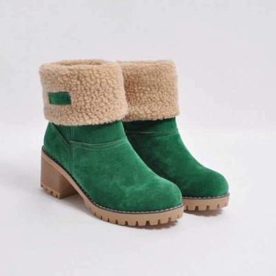 FFT480 Women Winter Fur Warm Snow Boots_16