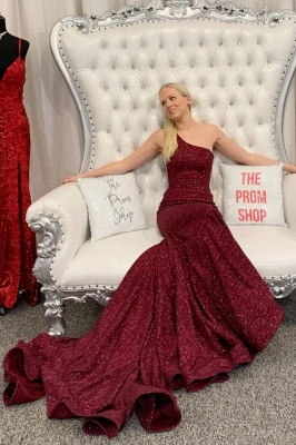 ZY415 Long Glitter Prom Dresses Red Evening Dresses Cheap_1