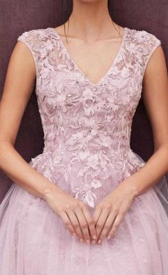 ZY380 Elegant Evening Dresses Pink Short Lace Cocktail Dresses_3