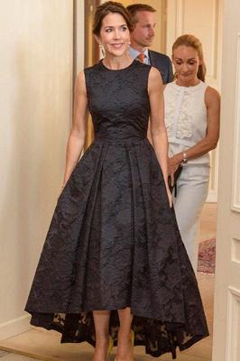 ZY400 Beautiful Black Cocktail Dresses Evening Dresses Front Short Long Back_1