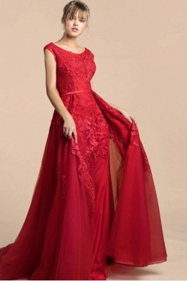ZY378 Red Evening Dresses Long Cheap Prom Dress Lace Online_1