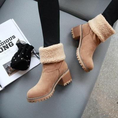 FFT480 Women Winter Fur Warm Snow Boots_12