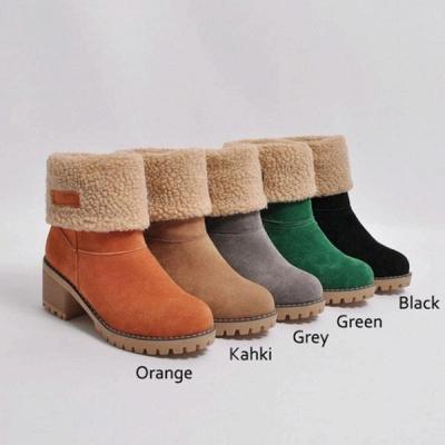 FFT480 Women Winter Fur Warm Snow Boots_18
