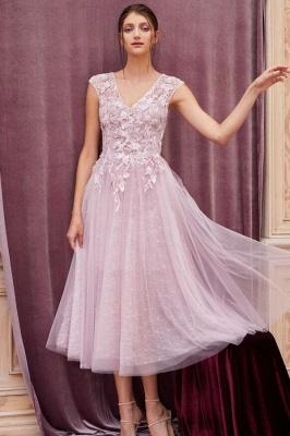 ZY380 Elegant Evening Dresses Pink Short Lace Cocktail Dresses_1