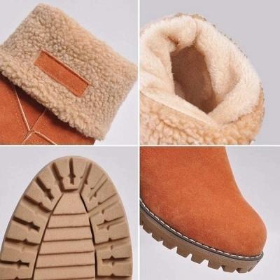 FFT480 Women Winter Fur Warm Snow Boots_2