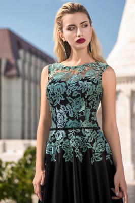 ZY432 Elegant Evening Dresses Long Black Prom Dresses With Lace_1