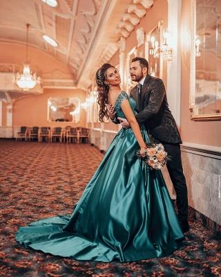ZY382 Elegant Evening Dresses Green Prom Dresses Long Cheap_2