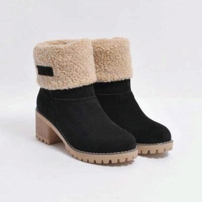FFT480 Women Winter Fur Warm Snow Boots_17