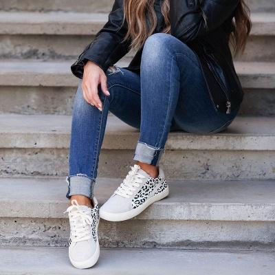 SD1967 Women Leopard Sneakers Flat Shoes_5