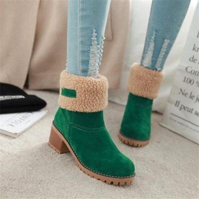 FFT480 Women Winter Fur Warm Snow Boots_9