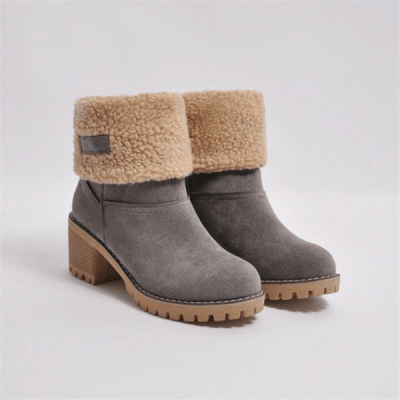 FFT480 Women Winter Fur Warm Snow Boots_14