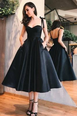 ZY412 Cocktail Dress Black Knee Length Evening Dresses Short_1