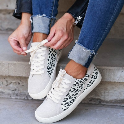 SD1967 Women Leopard Sneakers Flat Shoes_4