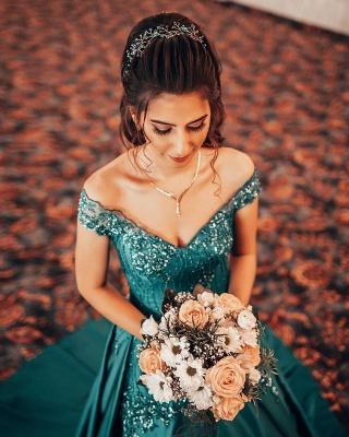ZY382 Elegant Evening Dresses Green Prom Dresses Long Cheap_3