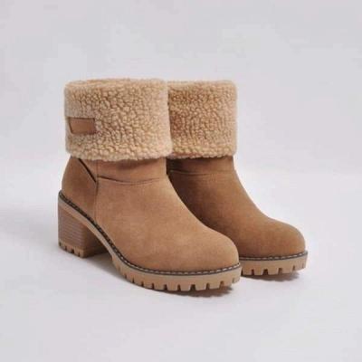 FFT480 Women Winter Fur Warm Snow Boots_15