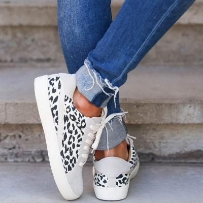 SD1967 Women Leopard Sneakers Flat Shoes_3