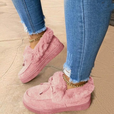 Fashion Warm Women Ankle Snow Boots_2