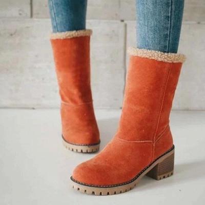 FFT480 Women Winter Fur Warm Snow Boots_7