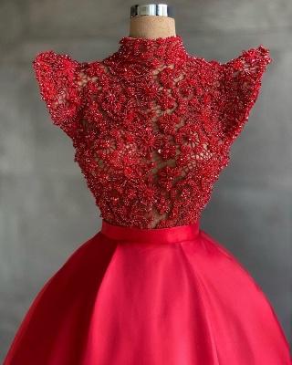 ZY465 Designer Evening Dresses Long Cheap Red Prom Dresses_2