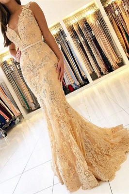 ZY460 Elegant Evening Dresses With Lace Prom Dresses Long Cheap_1