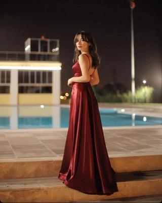 ZY457 Evening Dress Long V Neckline Evening Wear Online_4