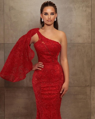ZY461 Prom Dress Long Red Evening Dress With Glitter_2