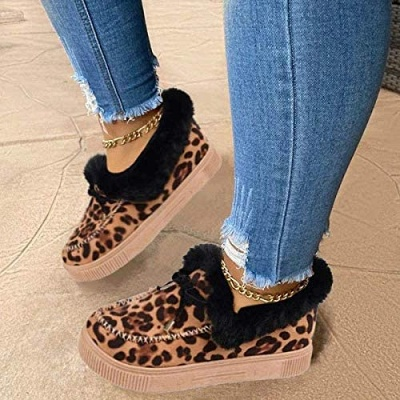 Fashion Warm Women Ankle Snow Boots_6